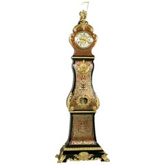 Napoléon III Boulle Marquetry Inlaid Eight Day Longcase Clock, circa 1880