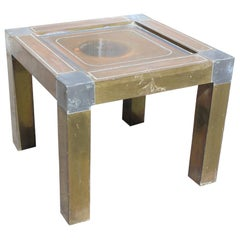 1980s Spanish Brass Side Table