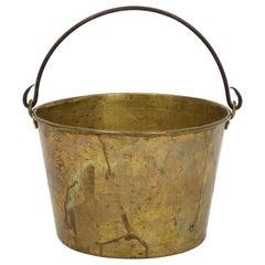 19th Century Aged Brass Cauldron