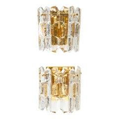 Kalmar Chiseled Glass Sconces
