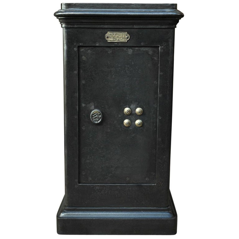 Iron and Brass Safe Cabinet by Bauche circa 1910