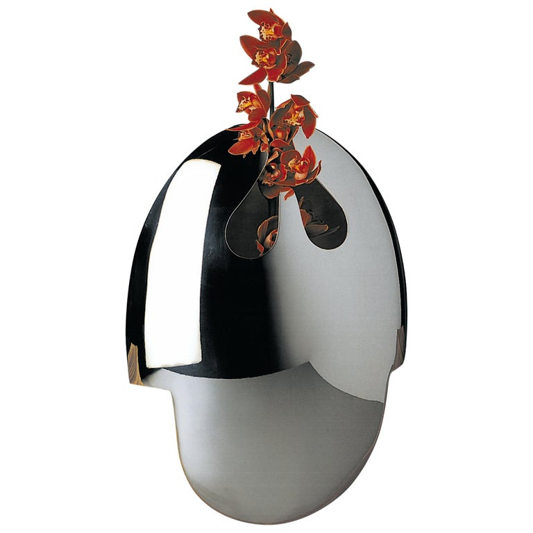 """Handmade Modern Silver Plated Vase """"Omaggio a S. Dalì"""" by G. Malimpensa for Mesa For Sale"""