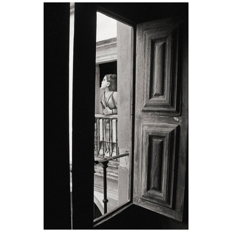 """Beauty at the Window"" Black & White Photography -Portrait -Gelatin Silver Print"