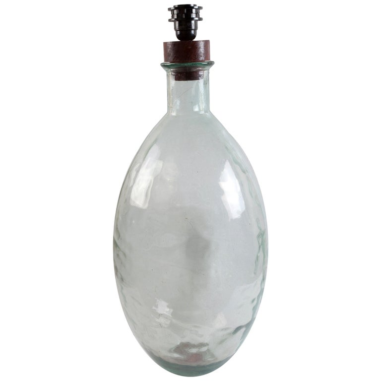 Dimpled Demijohn Distillery Bottle, 1970s, Possible Table Lamp For Sale