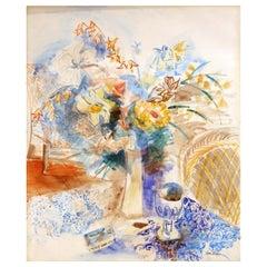 Jean Dufy, Still Life, Watercolor/Pencil