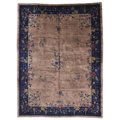 Modern Style Antique Chinese Peking Art Deco Rug