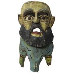 Man Reptile Wood Mask