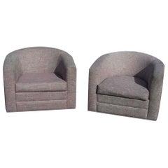 Vintage Barrel Swivel Lounge Chair by Mueller