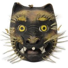 Wood Wild Cat Mask