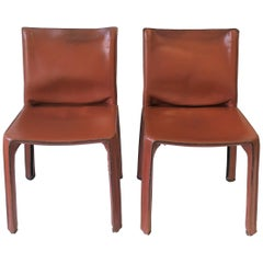 Cassina Leather Cab Side Chairs