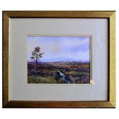Irish Watercolor by L Burns of Croghan Bog