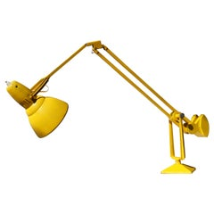 Erpe Belgium Yellow Metal Adjustable Desk Lamp