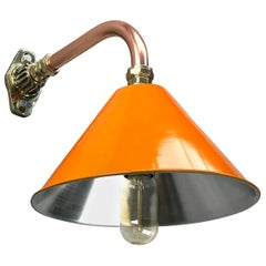 1980s Ex British Army Light Shade / Copper & Brass Cantilever, Custom Colours