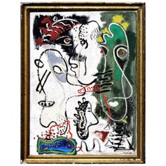 American Modernist Abstract Expressionist Painting by Zoute, 1944