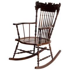 Midcentury Brazilian Rosewood Rocking Chair by Liceu de Artes e Oficios, 1940s