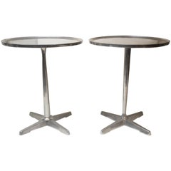 Pair of Aluminium Side Tables
