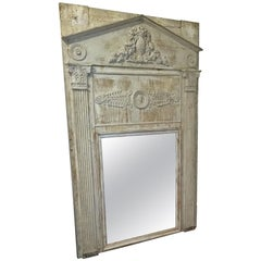 Large 19th Century French Neoclassical Revival Trumeau Mirror