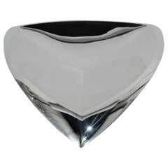 Exciting Tiffany & Co. Mid-Century Modern Streamlined Sterling Silver Bowl