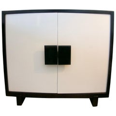 Black and White Lacquered Cabinet