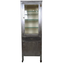 Vintage Modern Industrial Medical Cabinet