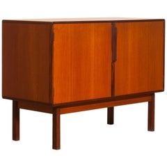 1960s, Teak and Palisander Small Sideboard Cabinet by Asko Finland