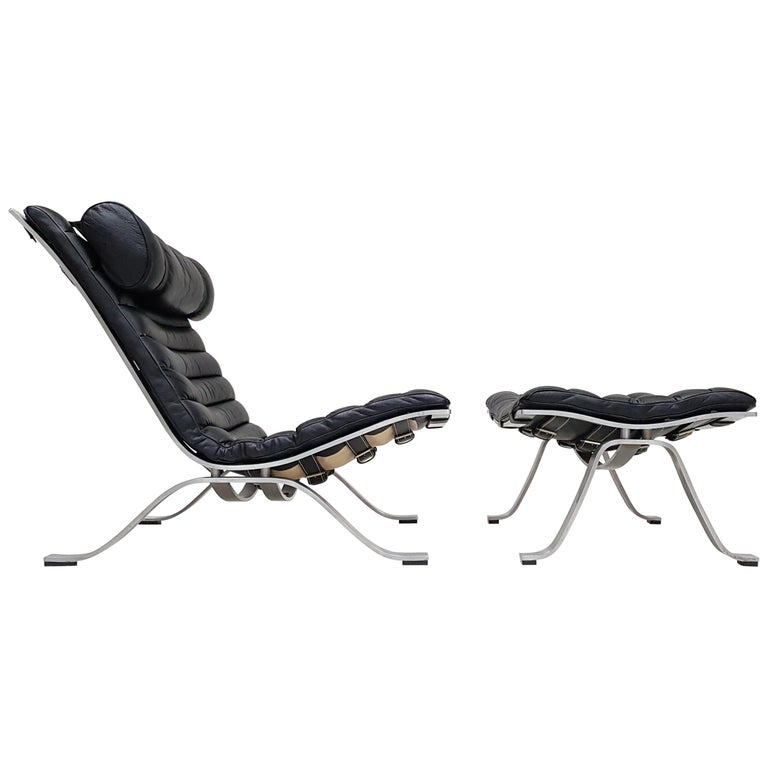 Arne Norell 'Ari' Lounge Chair with Ottoman, 1966, Norell Möbe