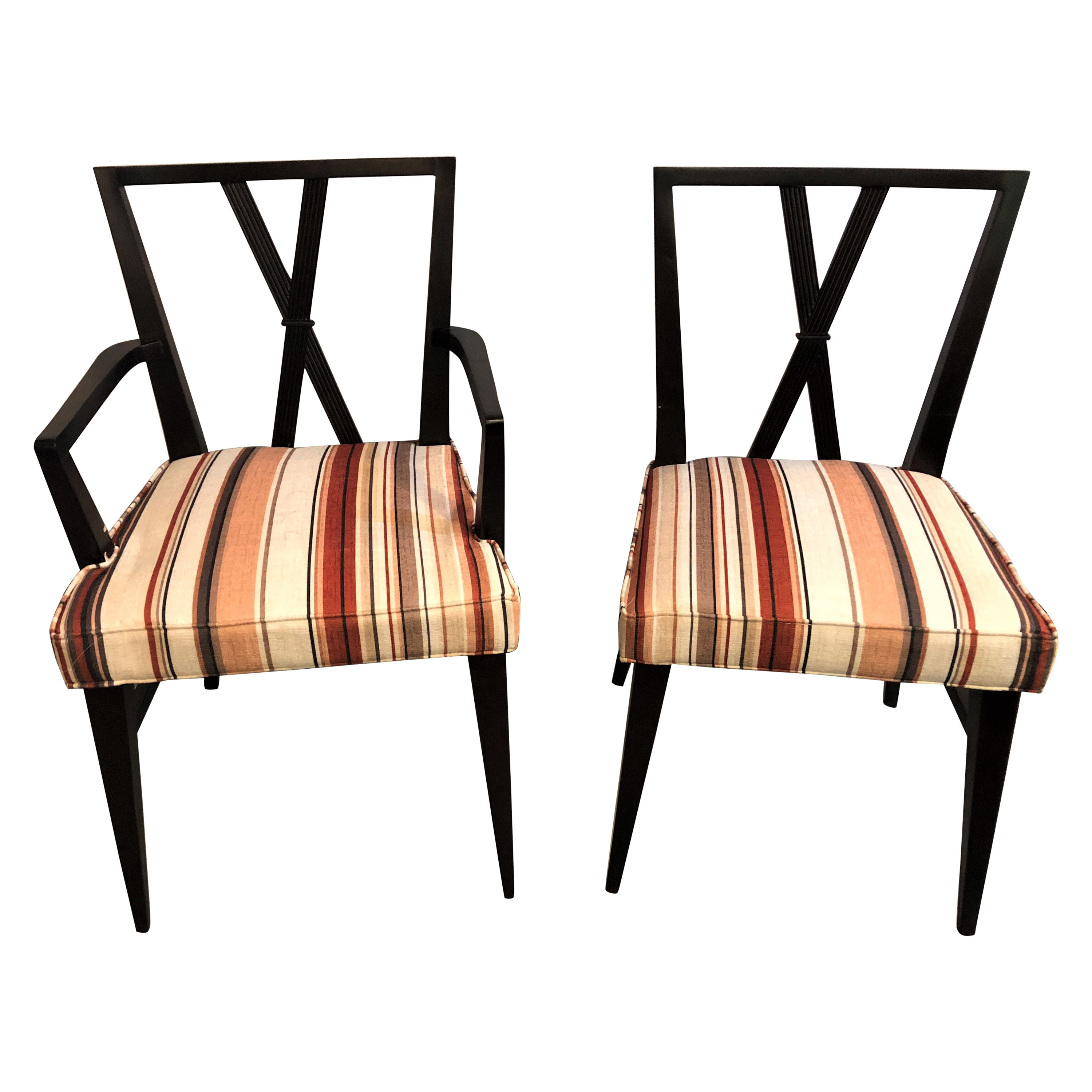 Set of Ten Tommi Parzinger Attributed Dining Room Chairs