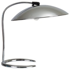 Chrome Table Lamp with Saucer Shade by Lightolier