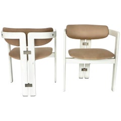 Pair of Pamplona Italian Chairs by Augusto Savini for Pozzi