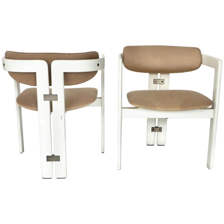 Pair of Pamplona Italian Chairs by Augusto Savini for Pozzi For Sale