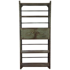 Industrial Steel Bookshelf Cabinet Unit