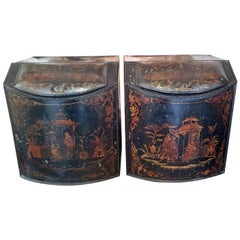 Pair of 19th Century American Henry Troemner Philadephia Pa Chinoiserie Tea Bins