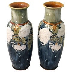 Pair of Arts & Crafts Period Vases by Royal Doulton, Priced as a Pair