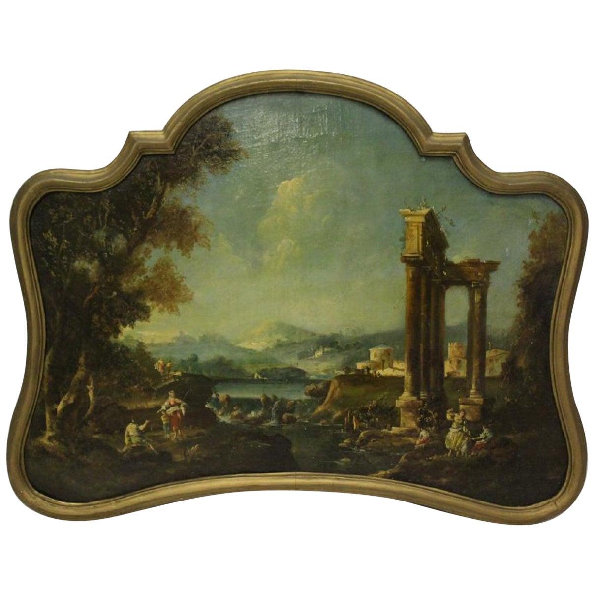 18th Century Italian School Oil on Canvas Painting