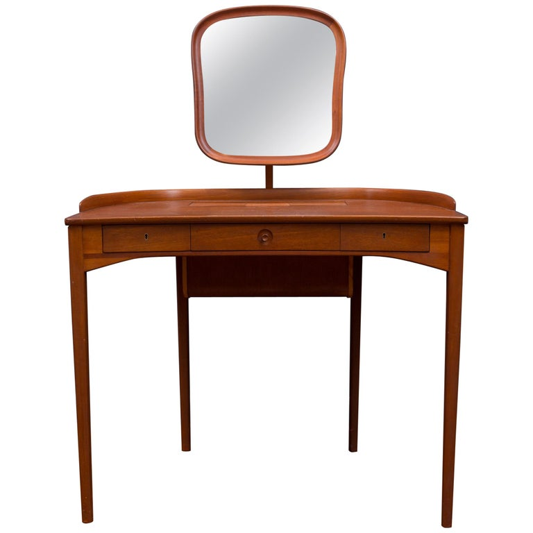 Carl Malmsten Vanity Table with Mirror For Sale