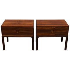 Askel Kjersgaard Danish Rosewood Nightstands for Odder