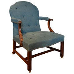 18th Century Mahogany Gainsborough Chair