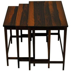 Insert Table of Rosewood in Three Pcs, Scandinavian, 1960s