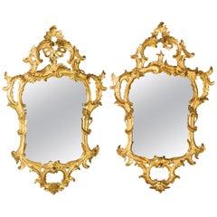 Pair of 18th Century Walnut Louis XV Venetian Mirrors
