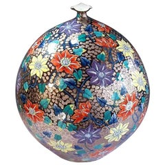 Contemporary Large Imari Gilded Porcelain Vase by Japanese Master Artist