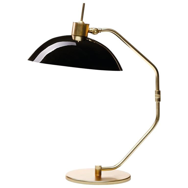Miles Table Lamp with Black Glass Shade