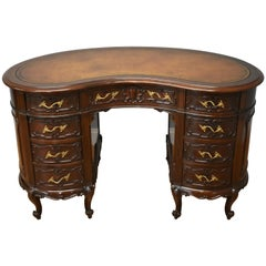 19th Century Victorian Mahogany Kidney Shaped Desk by Maple & Co