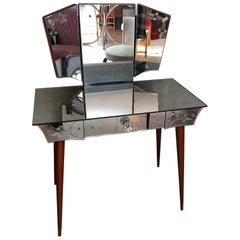 French Mirrored Dressing Table, 1950s