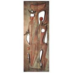 Monumental Door Sculpture by Gilbert De Smet