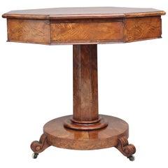 Early 19th Century Pollard Oak Drum Table