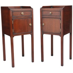 Pair of Early 20th Century Mahogany Bedside Cupboards