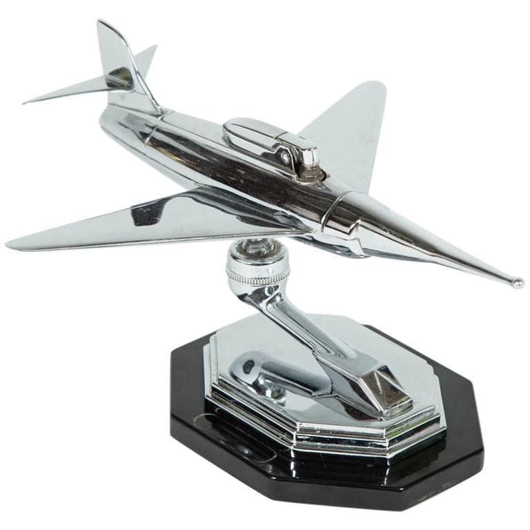 Gala Sonic Chrome Jet Airplane Desk Lighter For Sale