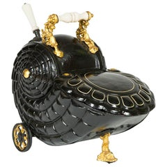 Victorian Nautilus Shaped Coal Scuttle