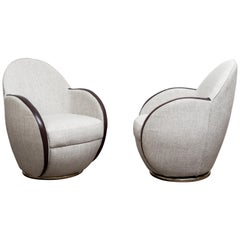Pair of Swivel Chairs, France, 1950s