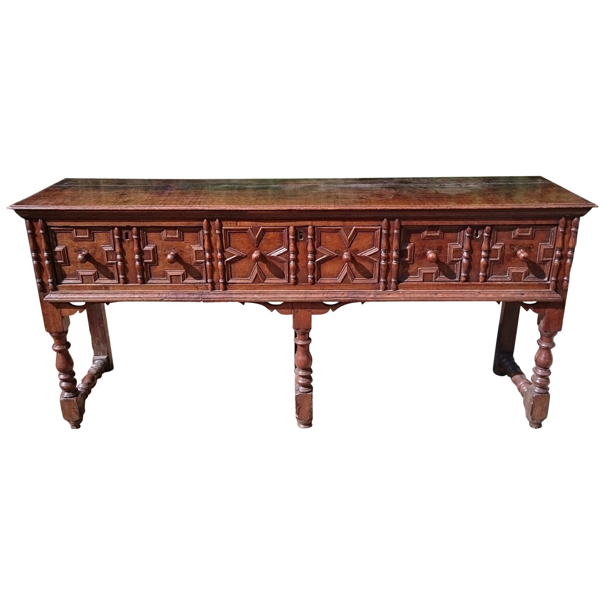 17th Century Oak Antique Dresser
